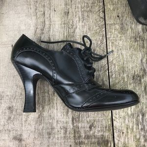 Victorian Goth shoes chunk heel; new size 7